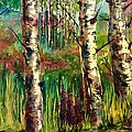 Summer Birch by Wendy Meeres