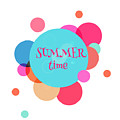 Summer Colorful Background With Text - by Vector art
