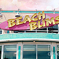 Summer Cottage Beach Bums Myrtle Beach Art Deco Sign by Kathy Fornal