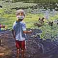 Summer Day At The Pond by Ronnie Corn