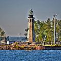 Summer Day View Of The Lighthouse  by Michael Frank Jr