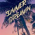 Summer Dreamin Tropical Island Palm Trees Sunrise by Beverly Claire Kaiya