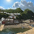 Summer Evening Clovelly North Devon by Richard Harpum