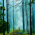 Summer Forest - Palette Knife Oil Painting On Canvas By Leonid Afremov by Leonid Afremov