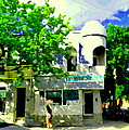 Summer In Psc Pizza At Connie's Pizzaria And Hamburgers City Scene Sud Ouest Montreal Carole Spandau by Carole Spandau