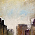 Summer In The City Abstract Geometric Original Painting On Canvas by Gray  Artus