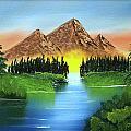Summer Lake Sunrise by Ryan Heath
