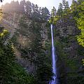 Summer Morning Rays At Multnomah Falls Oregon  by Peri Ann Taylor
