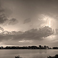 Summer Storm In Black And White Sepia by James BO Insogna
