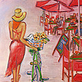 Summer Stroll By A Cafe by Xueling Zou