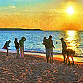 Summer Sunset At The Beach by Digital Photographic Arts