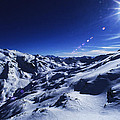 Summit Of The Italian Alps In Winter by Austin Brown