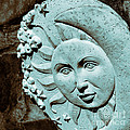 Sun And Crescent Moon Duotone Sculpture by Lynn Palmer