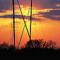 Sun And Masts by Brian Wallace