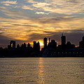 Sun Comes Up On New York City by Bill Cannon