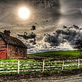 Sun Gazing Upon An Old Barn by Derek Haller