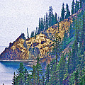 Sun Notch On A Rainy Day At Crater Lake National Park-oregon by Ruth Hager