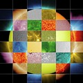 Sun Observed At Different Wavelengths by Nasa/sdo/goddard Space Flight Center