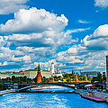 Sun Over The Old Cathedrals Of Moscow Kremlin by Alexander Senin