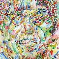 Sun Ra Watercolor Portrait by Fabrizio Cassetta