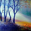 Sun Ray In Blue  by Lilia D