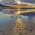 Sun Ray Sunset Saltburn by Gary Eason