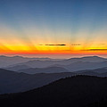 Sun Rays From Clingmans Dome In The Great Smoky Mountains National Park by Pierre Leclerc Photography