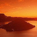 Sun Rising Over Crater Lake National by Panoramic Images
