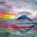 Sun Salutation At Mt. Fuji by Terri Harris