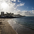 Sun Sand And Waves - Waikiki Honolulu Hawaii by Georgia Mizuleva