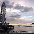 Sun Set Circle Seattle by Monica Salyer