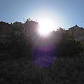 Sun Sets At Tent Rocks by Lovina Wright
