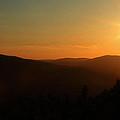 Sun Sets Over Mount Battie by Karol Livote