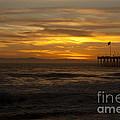 Sun Setting Behind Santa Cruz With Ventura Pier 01-10-2010 by Ian Donley