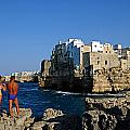 Sunbathing At Polignano A Mare by Gianmarco Cicuzza
