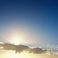 Sunbeams Behind Clouds by Jan Brons