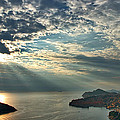 Sunbeams On Dubrovnik by Stuart Litoff