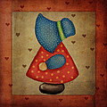Sunbonnet Sue In Red And Blue by Brenda Bryant