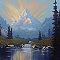 Sunburst Landscape by Richard Faulkner