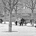 Sunday Afternoon In A Paris Park by Suzanne Oesterling