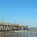 Sunday At Surfside Pier by Connie Fox