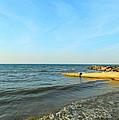 Sundown At Lake Erie  by Kathy Barney