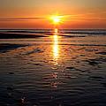 Sundown At The North Sea by Annie Snel