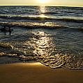 Sundown On The Beach by Thomas Woolworth
