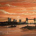 Sundown Over Tower Bridge London by Mackenzie Moulton