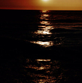 Sundown Reflections On Lake Michigan 02 by Thomas Woolworth