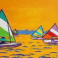 Sunfish Sailboat Race by Tommy Midyette