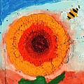 Sunflower And Bee by Phil Strang