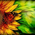 Sunflower And Butterfly by Lilia D