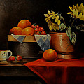Sunflower And Fruits by Epifanio jr Mendoza